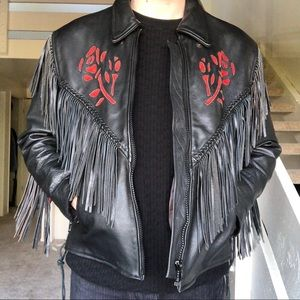 Vintage Floral Fringe Jacket